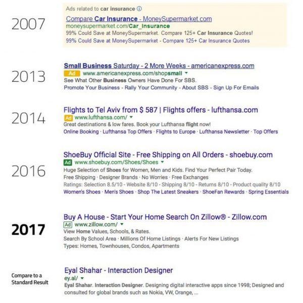 גוגל משנה את תצוגת תוצאות החיפוש - עדכון בתצוגת הפרסום הממומן